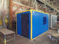 Прорабка - Бытовое помещение размером 4,0 х 2,1 х 2,3 метра Бытовка Вагончик строительный, фото 1