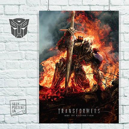 Постер Трансформеры 4: Эпоха истребления (2014). Размер 60x42см (A2). Глянцевая бумага, фото 2