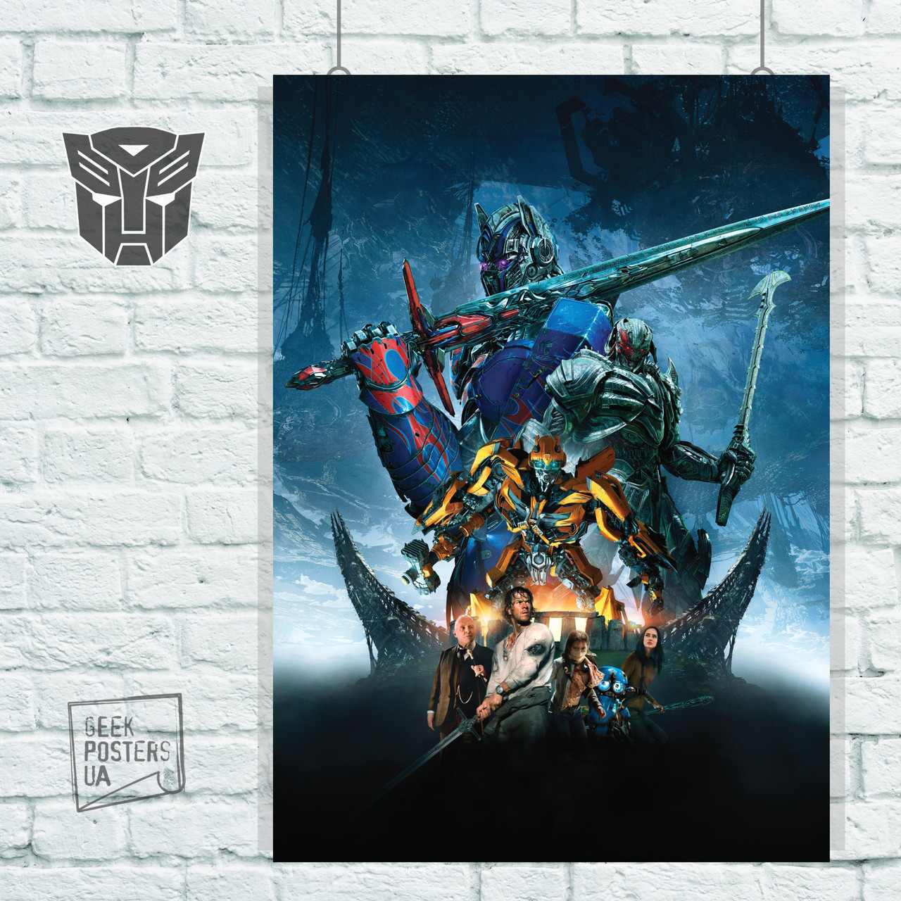 Постер Трансформеры 5: Последний рыцарь (2017). Размер 60x42см (A2). Глянцевая бумага