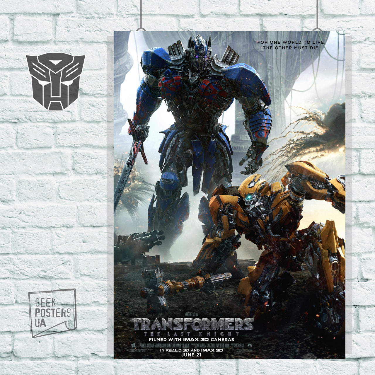 Постер Трансформеры 5: Последний рыцарь (2017). Размер 60x41см (A2). Глянцевая бумага