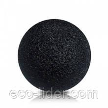 Губка Konjac конняку черная для умывания, мягкого пиллинга и массажа
