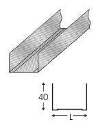 Профіль для гіпсокартону UW50 3 м