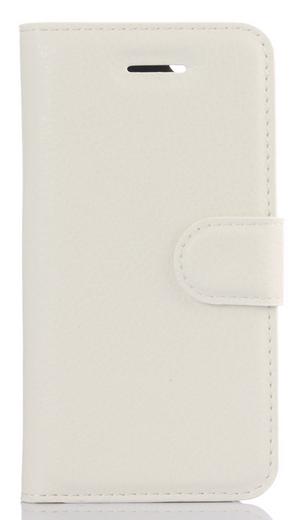 Кожаный чехол-книжка для Doogee BL7000 белый