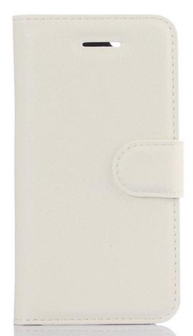 Кожаный чехол-книжка для Doogee BL7000 белый, фото 2