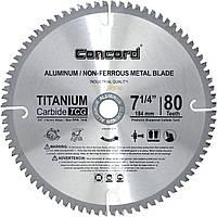 Диск пильный по цветному металлу Concord 80T 185mm