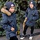"""Детская подростковая зимняя куртка на синтепоне """"Канада Милитари Звёзды Кожа"""" в расцветках, фото 3"""