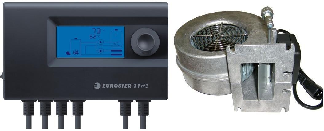 Контролер + вентилятор для твердопаливних котлів EuroSter 11W для котлів Данко