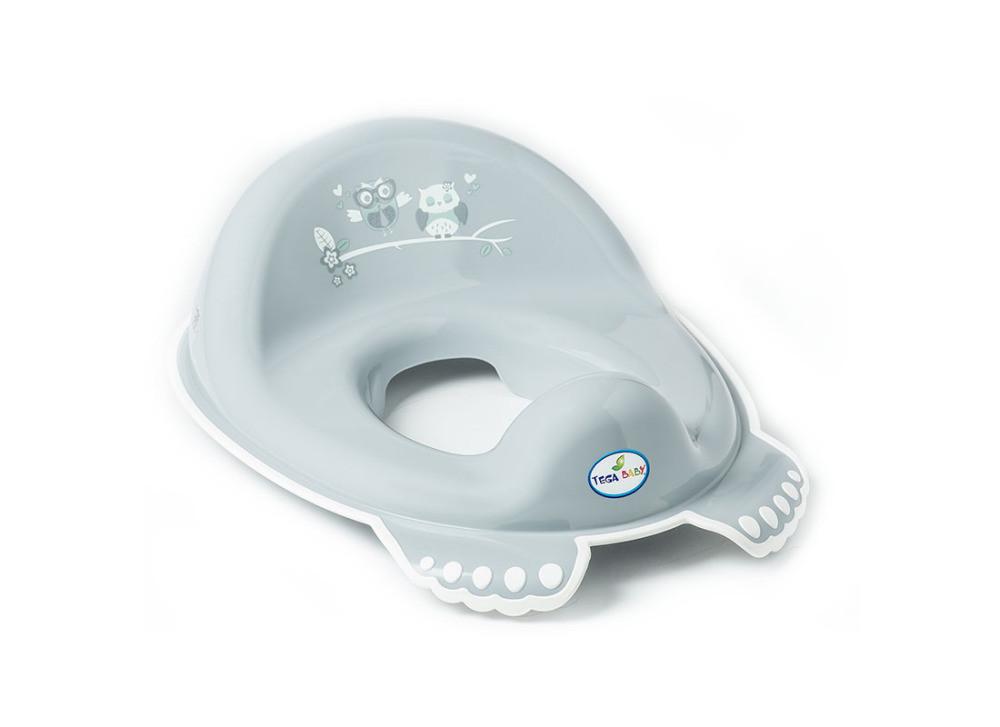 Накладка на унитаз Tega Owl SO-002 нескользящая 106 gray