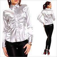 Серая женская рубашка