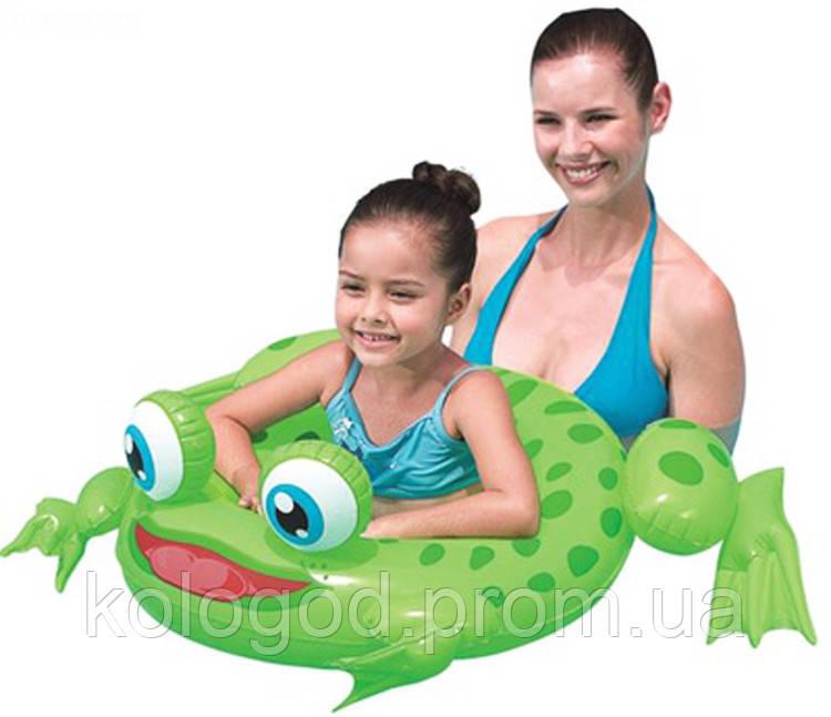 Пляжный Надувной Детский Круг Яркая Лягушка для Плавания и Отдыха Матрас в Виде лягушки Intex