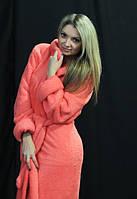 Махровый халат женский