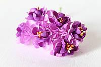 Цветы хризантемы (астры) 6 шт. диаметр 3,5-4 см диаметр пурпурного цвета, фото 1