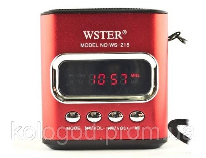 Портативная MP3 Колонка WS 215 Спикер USB FM am