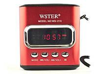 Портативная MP3 Колонка WS 215 Спикер USB FM am, фото 1