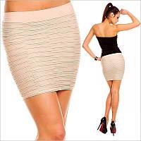 Удобная юбка бежевого цвета