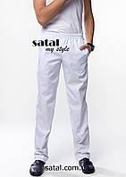 Мужские медицинские брюки (белые)