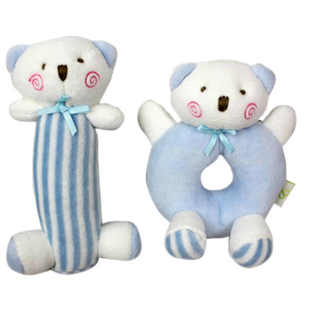 Набор мягких игрушек - погремушек Медвежата Mami and Beby