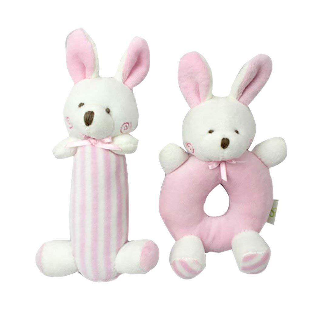 Набор мягких игрушек - погремушек Зайчата Mami and Beby