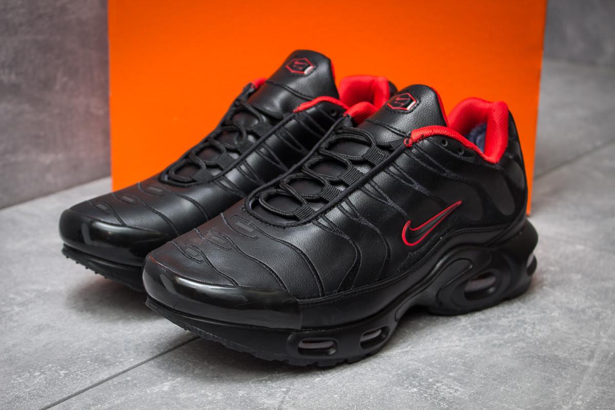 Зимние кроссовки на меху в стиле Nike Tn Air, черные (30322),  [  43 44 45  ]