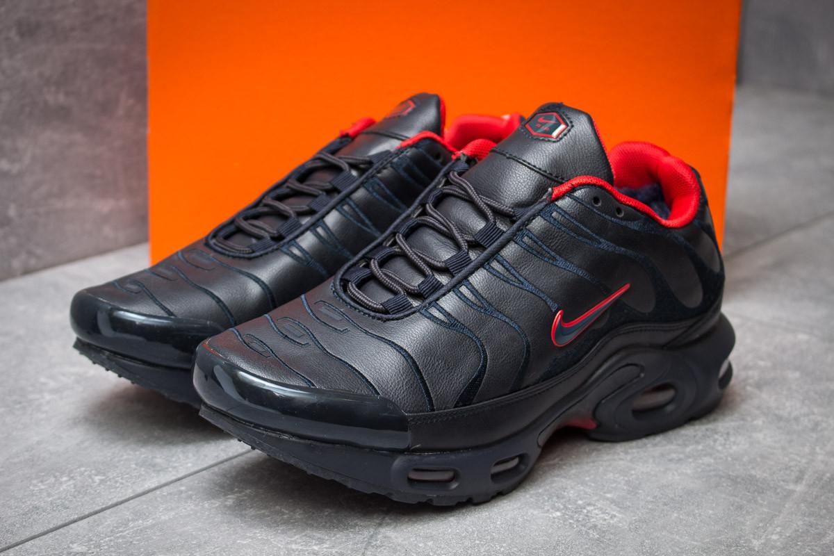 Зимние кроссовки на меху в стиле Nike Tn Air, темно-синий (30323),  [  41 43 44 45  ]