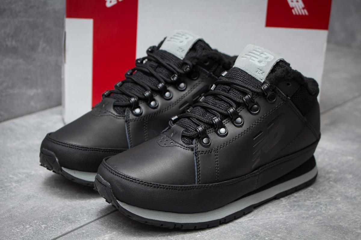 Зимние кроссовки на меху в стиле New Balance 754, черные (30261),  [  42 43 44 45  ]