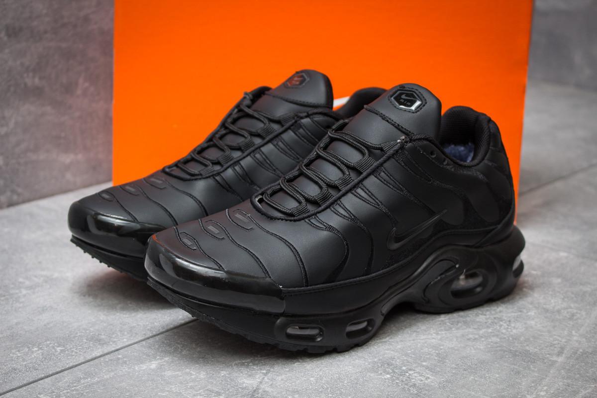 Зимние кроссовки на меху в стиле Nike Tn Air, черные (30321),  [  43 44 46  ]