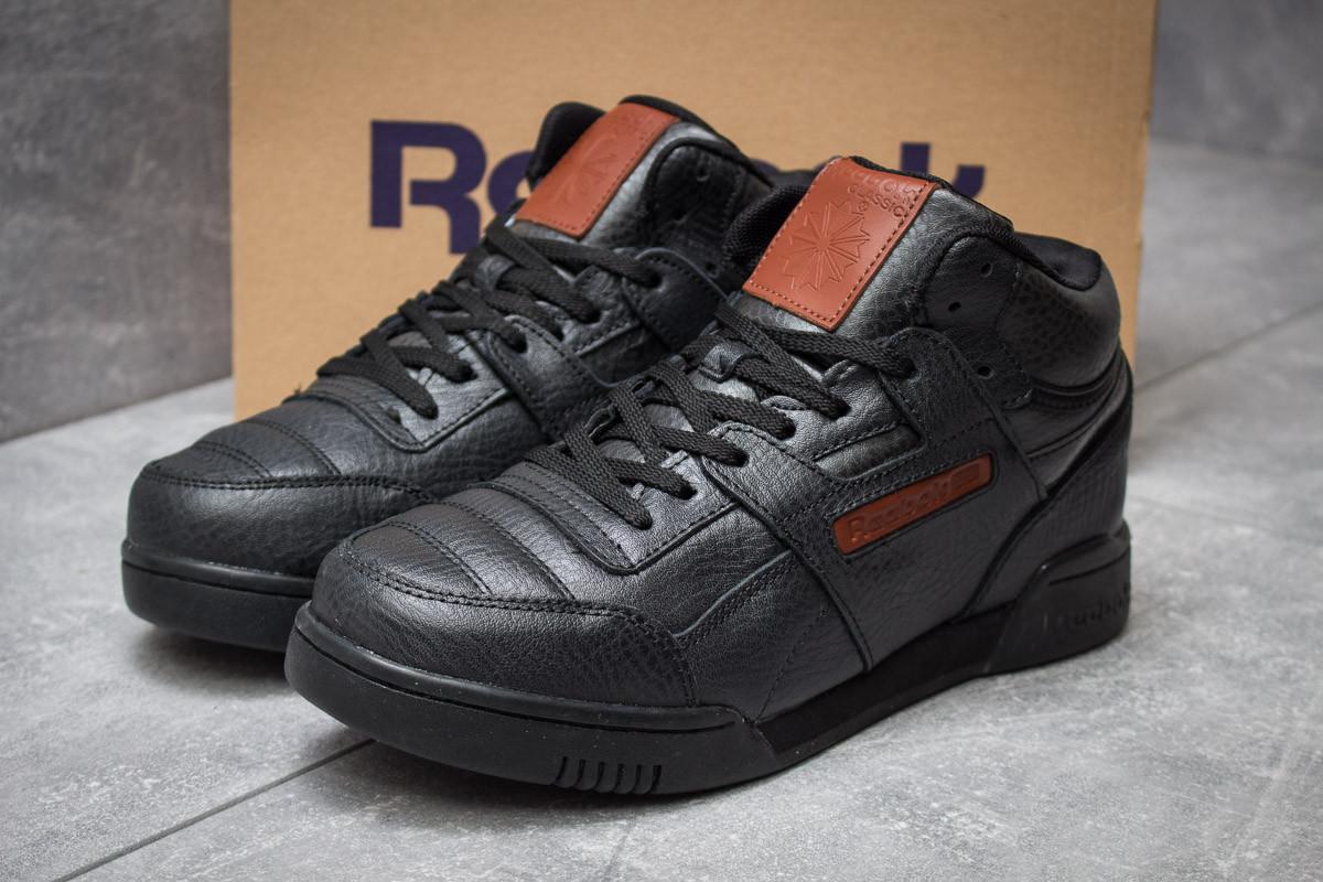 Зимние кроссовки на меху Reebok Classic, черные (30311),  [  41 42 43 44 45  ]