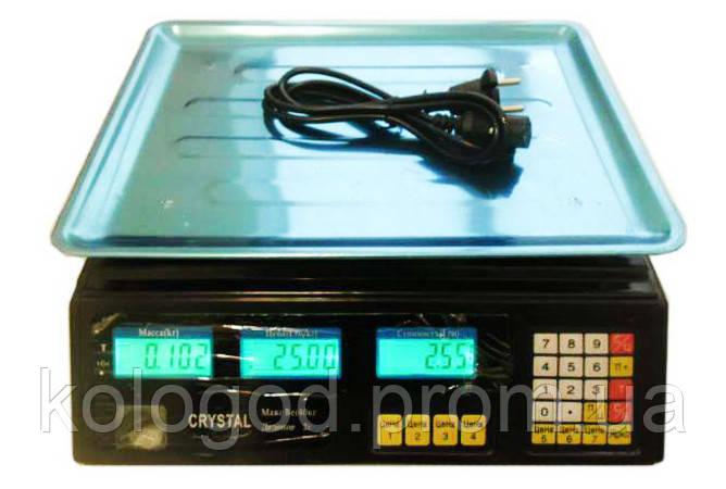Торговые Электронные Весы Crystal 40 кг am