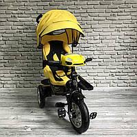 Трехколесный Велосипед Колясочного Типа BEST TRIKE с Поворотным Сиденьем Фарой и Ключом Зажигания