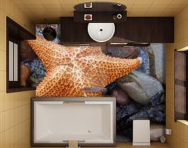 Фотопечать для 3D полов, 2х2м (любой размер), фото 3