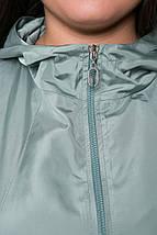 Расклешенный плащ с капюшоном РИКА ментоловый, фото 3