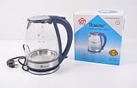 Электрический Стеклянный Чайник MS 8111 Электрочайник, фото 1