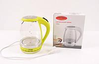 Электрический Стеклянный Чайник Wimpex WX 820 Электрочайник am, фото 1