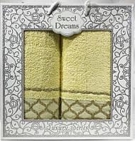 Набор 2 махровых полотенца Sweet Dreams M1 (50х90 и 70х140см) желтые