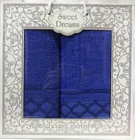 Набор 2 махровых полотенца Sweet Dreams M1 (50х90 и 70х140см) синие