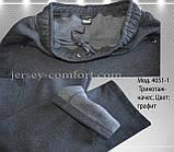 Чоловічі брюки утеплені - трикотаж-начіс.Чорні, фото 5