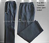 Чоловічі брюки утеплені - трикотаж-начіс.Чорні, фото 7