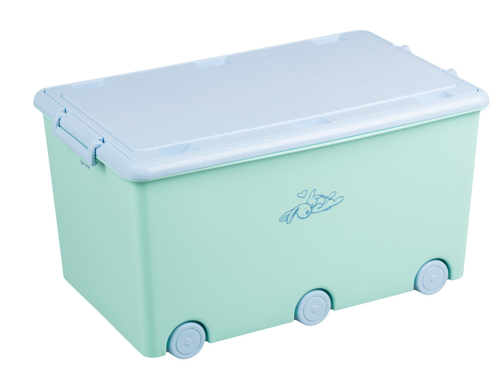 Ящик для игрушек Tega Little Bunnies KR-010 105 light green
