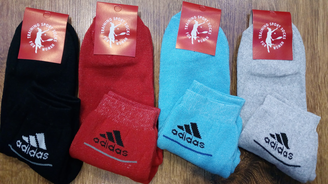 """Женские махровые хб носки в стиле""""Adidas"""",Турция"""
