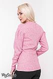 Теплый свитер для беременных GAIA SW-48.111, розовый меланж, фото 3