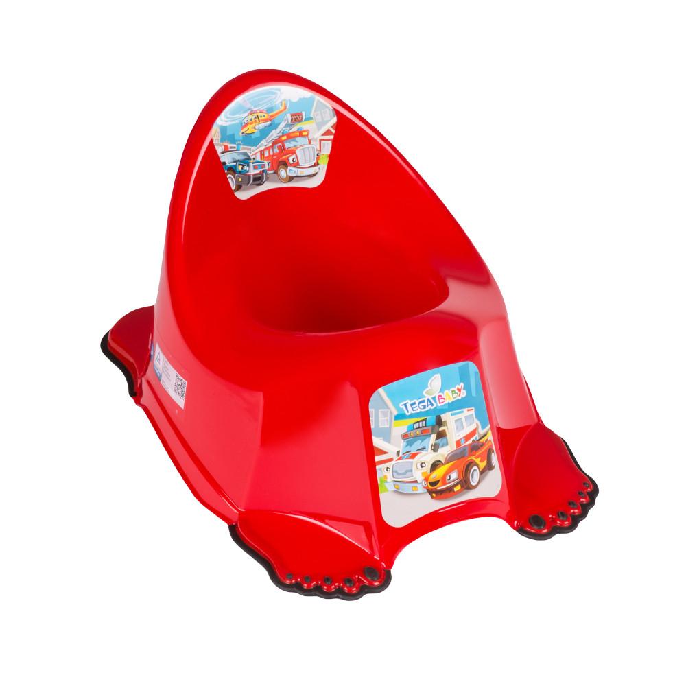 Горшок Tega Cars CS-001 нескользящий 121 red