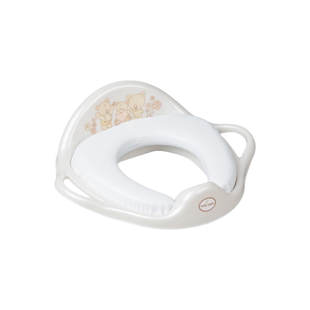 Накладка на унітаз Tega Teddy Bear MS-020 Soft м'яка 118 white pearl
