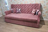 Диван в кухню в розовой ткани , фото 1