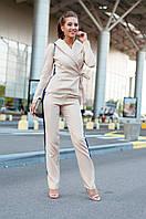 """Брючный женский деловой костюм """"MOLLA"""" с жакетом и лампасами (3 цвета)"""