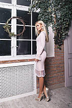 """Облегающее трикотажное платье """"Total"""" с люрексом и длинным рукавом (3 цвета), фото 2"""