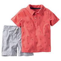 Набор футболка-поло и шорты для мальчика Carters якоря