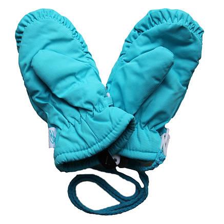 Детские зимние термоварежки для девочки от 1 года до 7 лет голубые, фото 2