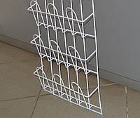 Торговая стойка для торговли в магазинах ,супермаркетах навесная корзиночная 3 ряда по 3 ячейки, фото 1