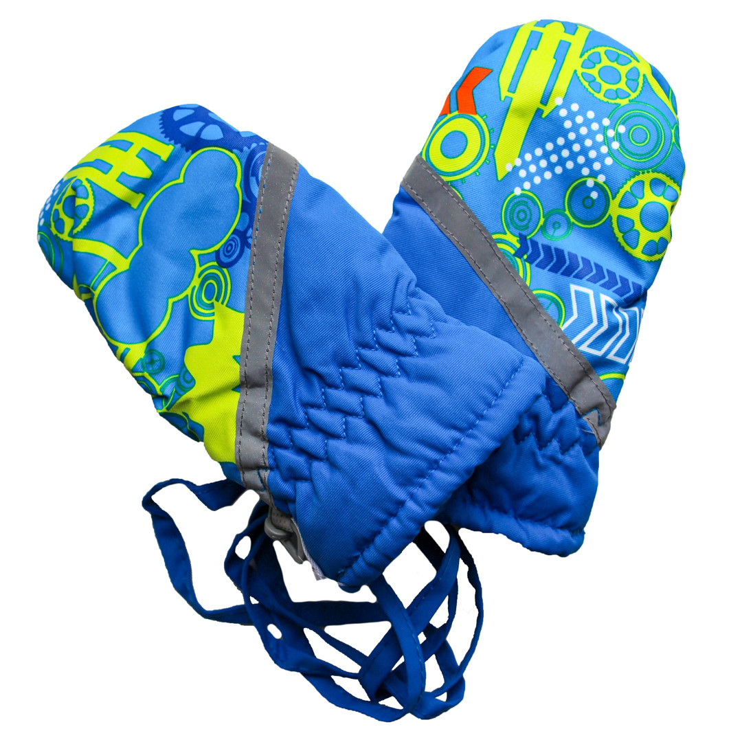 Детские зимние термоварежки для мальчика 2-5 лет синие