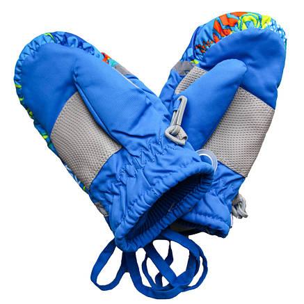 Детские зимние термоварежки для мальчика 2-5 лет синие, фото 2